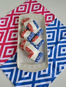 Red, White, and Blue Chocolate Covered Marshmallows