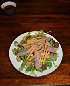 Steak Salads with Fries :  CSA Tuesdays