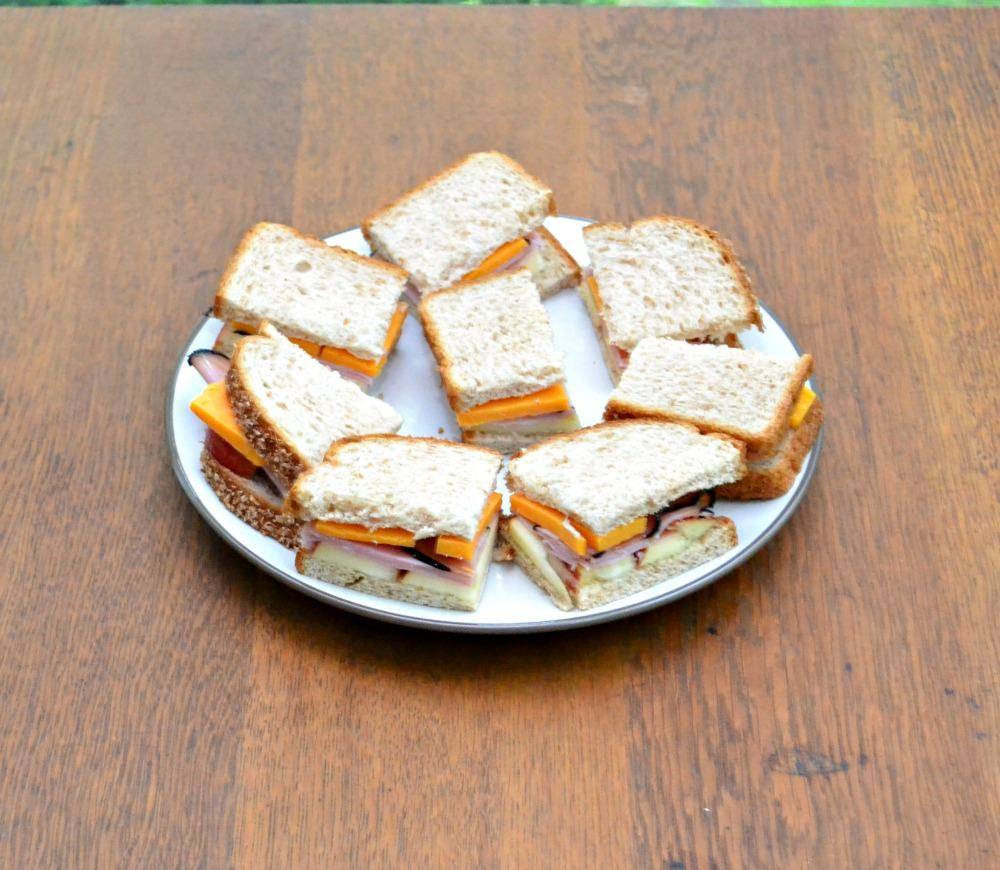 Make your own tea sandwiches with apples, ham, and cheese!