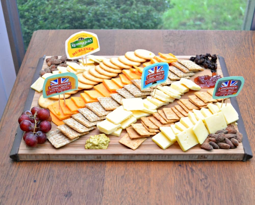 A delicious cheese plate made with Londoner and Kerrygold cheese