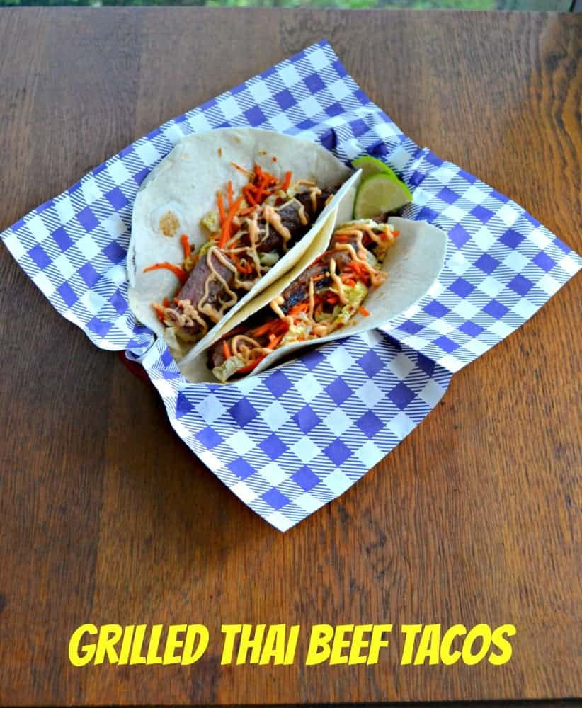 Fresh Grilled Thai Beef Tacos with Slaw