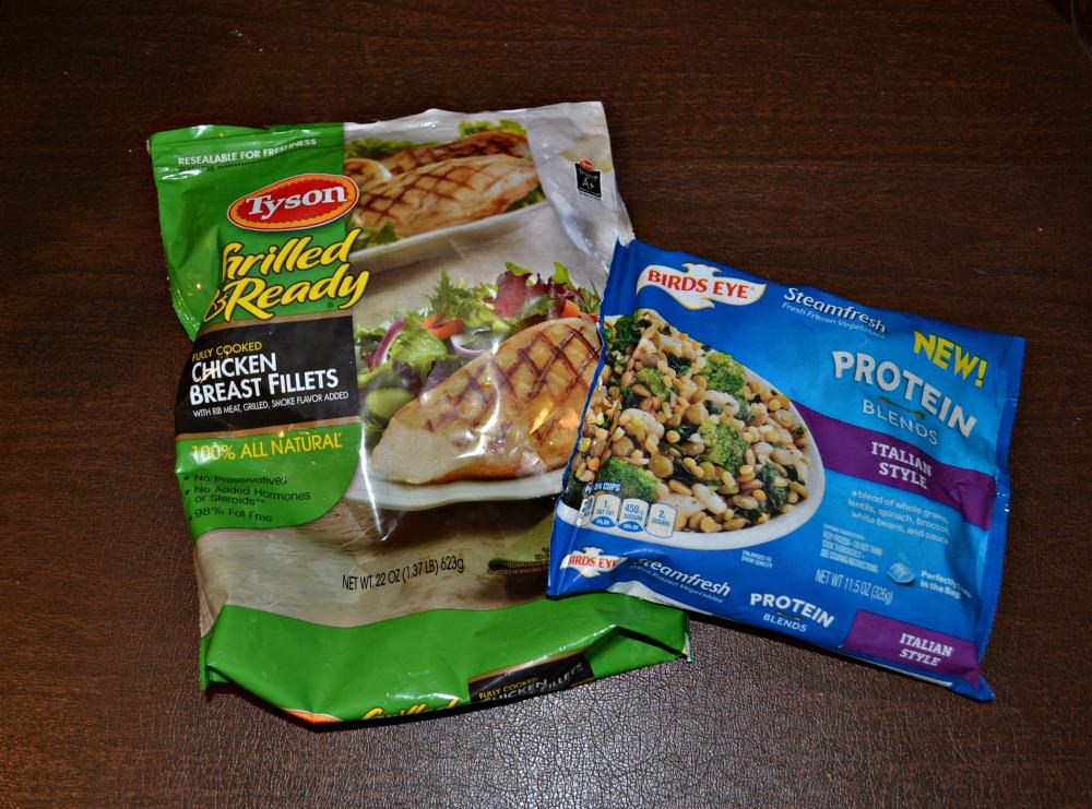Tyson's Chicken and Bird's Eye Protien Blend Vegetables