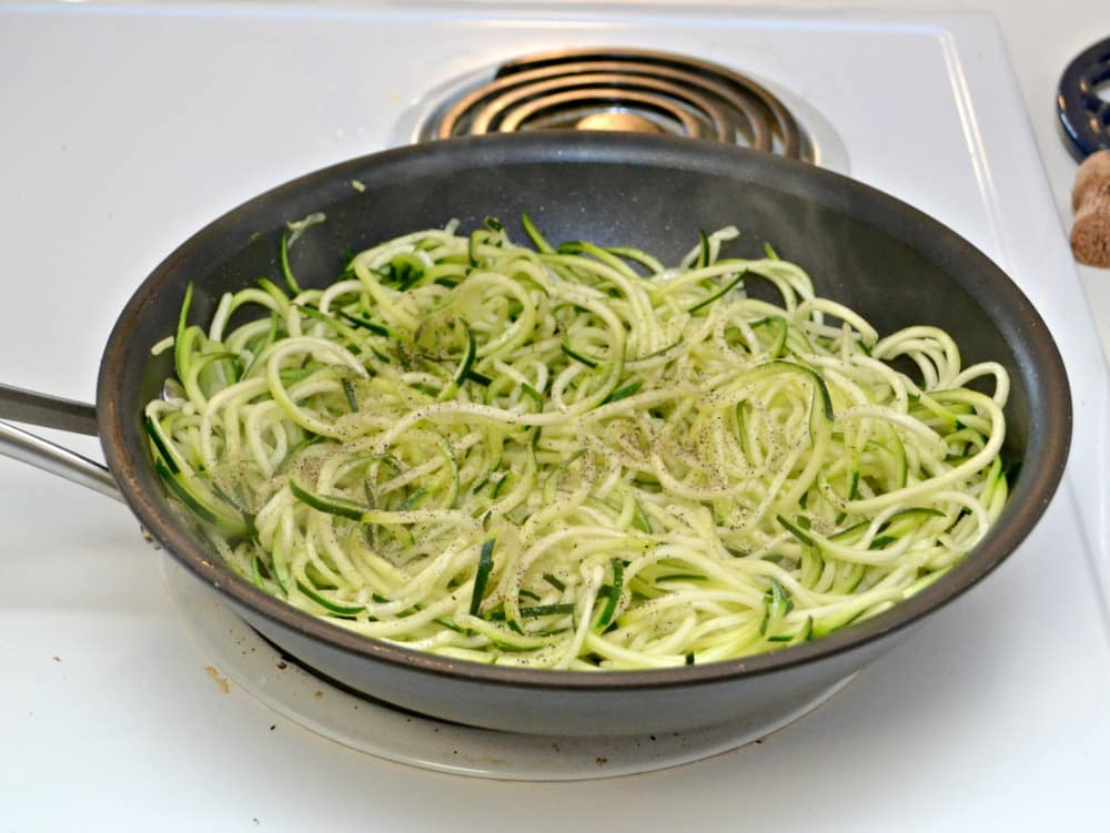 Fresh Zucchini Noodles are a great way to eat gluten free