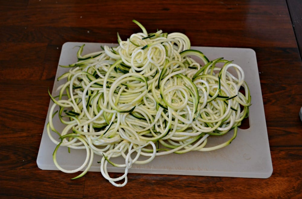 Spiralized zucchini makes zoodles which are a great pasta substitute.