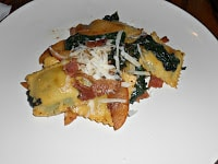 Ravioli with Apples, Bacon, and Spinach is an easy weeknight meal