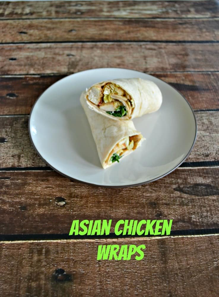Easy to make Asian Chicken Wraps with Soy Yogurt Sauce