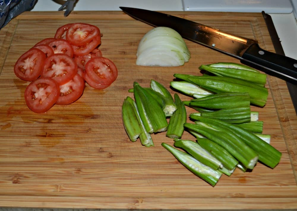 Fresh Okra made into a tasty side dish in just minutes!