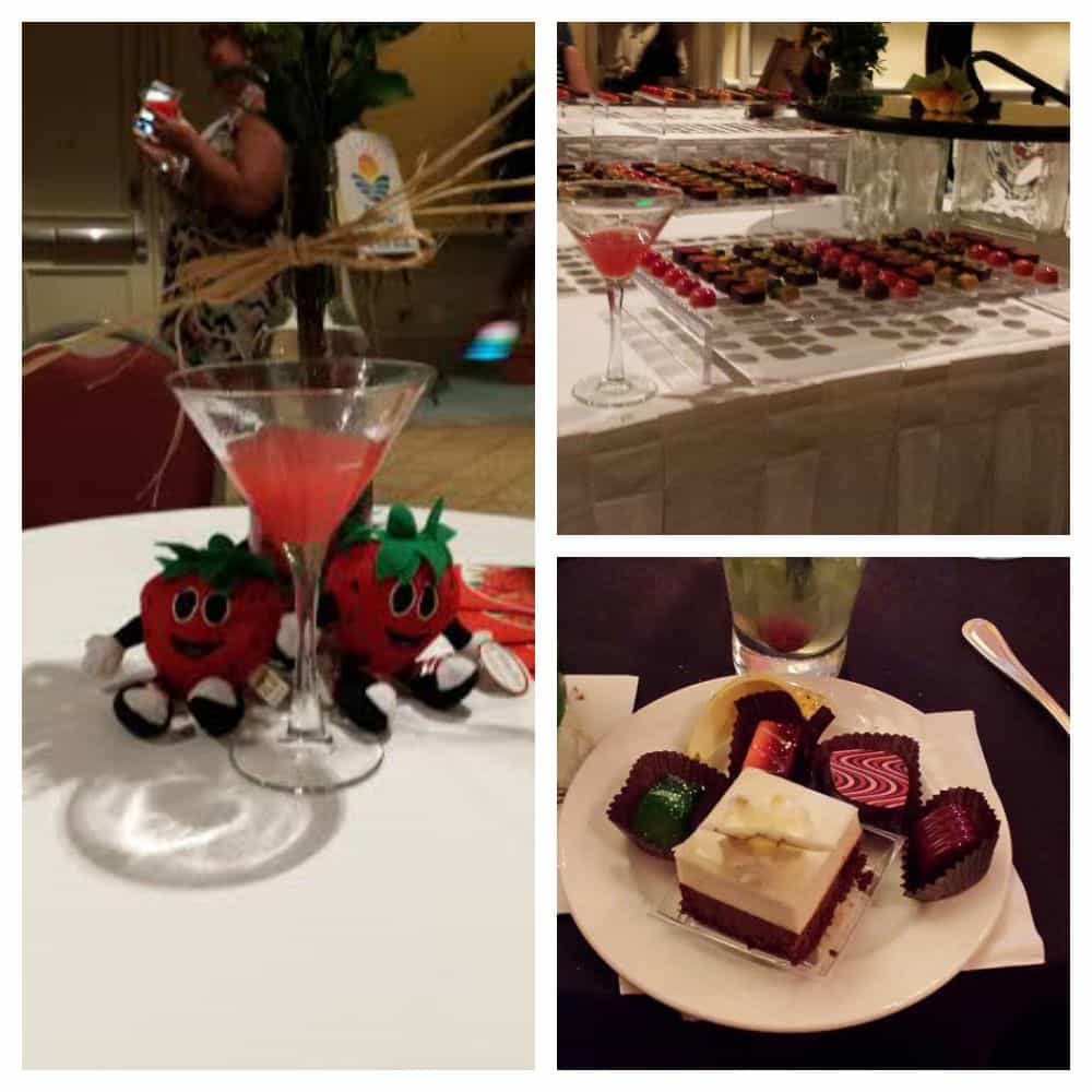 Delicious Chocolates and Strawberry Martinis