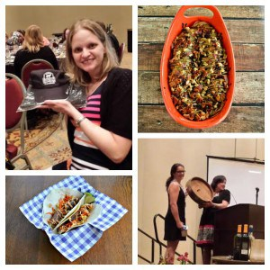 My winning Food and Wine Conference recipes and my prizes!