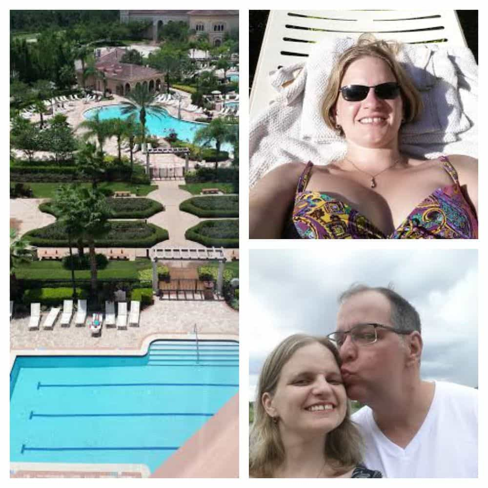 Hanging at the pool with my husband at Food and Wine Conference