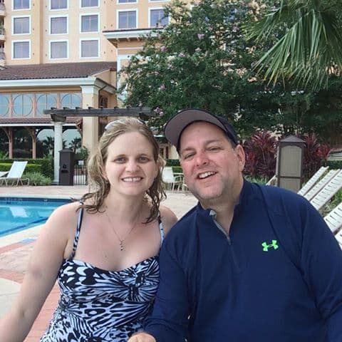 My husband and I on our trip to orlando