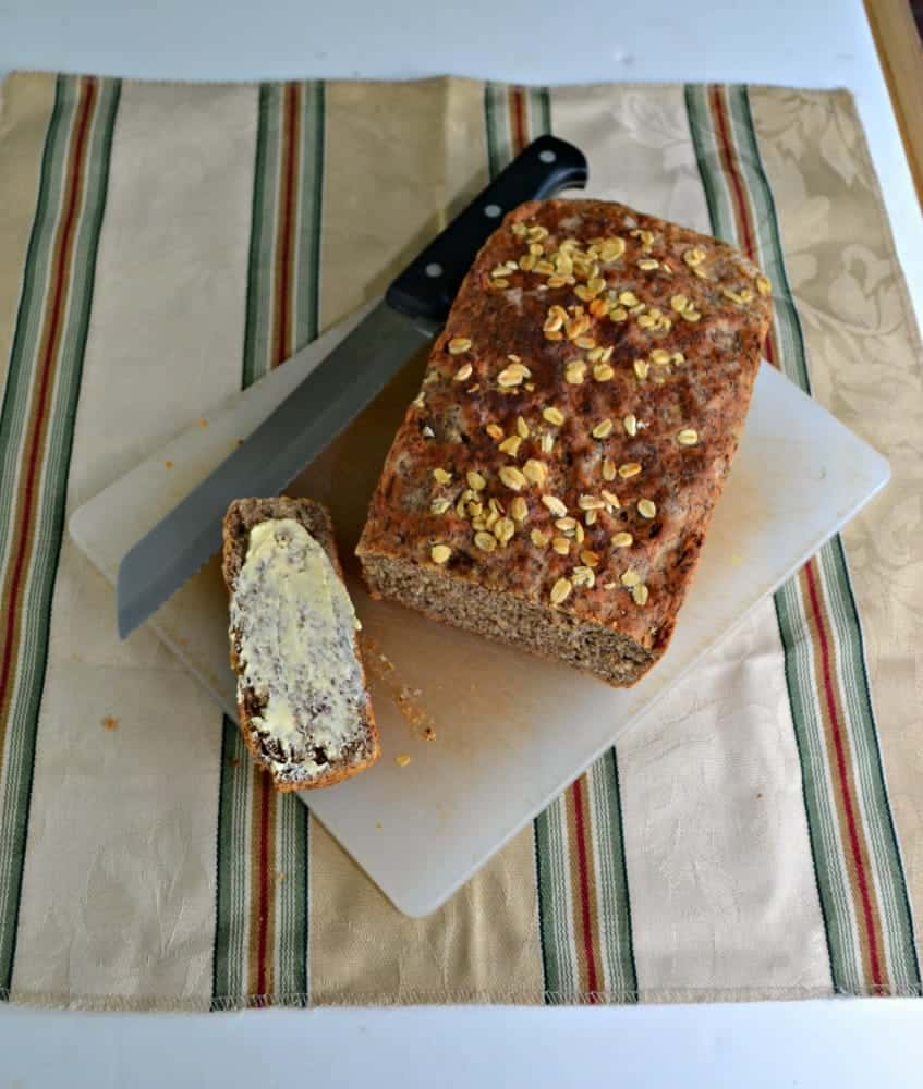 Tasty Honey Wheat Oat Bread is slightly sweet and has a lot of texture.