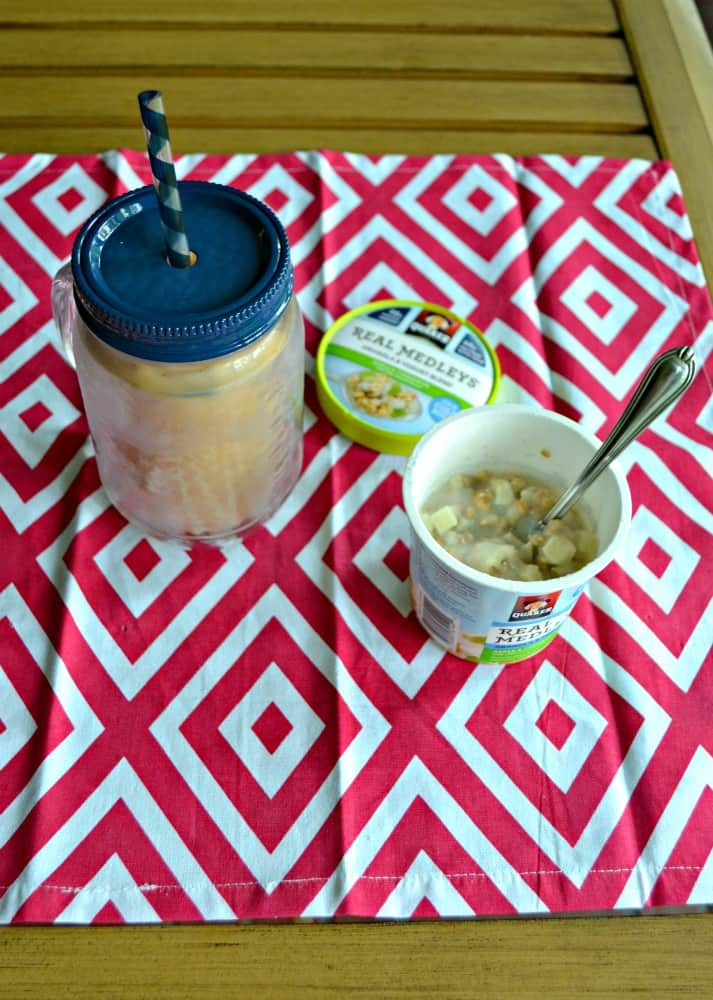 Real Medleys Yogurt Cups and Homemade Iced Coffee are the perfect pair!