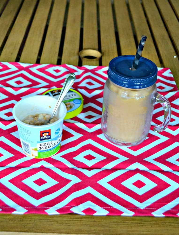 Make delicious homemade Iced Coffee in minutes and pair it with Quaker Real Medleys Yogurt Cups