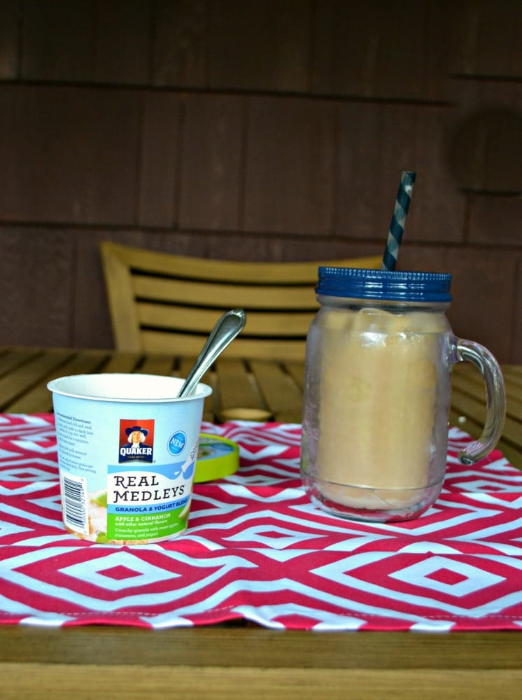 Homemade Iced Coffee and Quaker Real medleys Yogurt Cups make a delicious breakfast!