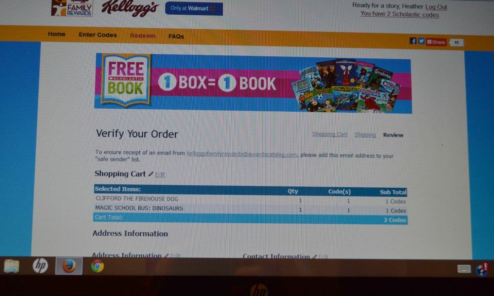 Purchase a Kellogg's item, get a free book!