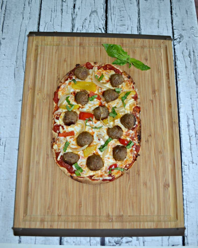 Meatball Flatbread Pizzas are easy to make and great for after school snacks!
