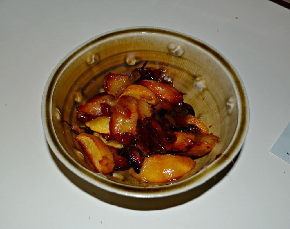 Roasted Peaches and Plums for a tasty parfait