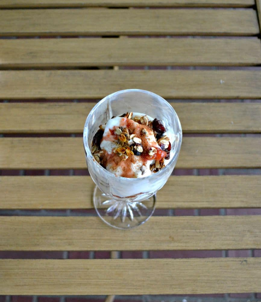 Delicious Roasted Peach and Plum Breakfast Parfaits