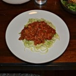 Spaghetti and Zoodles with Vegetable Bolognese #SundaySupper