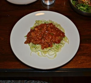 Get your kids to eat their veggies with this vegetable bolognese with zoodles!