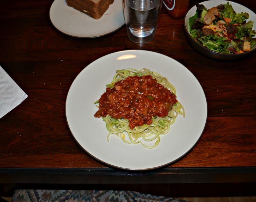 Zoodles with Vegetable Bolognese