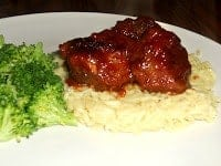 Meatballs in Amaretto BBQ Sauce