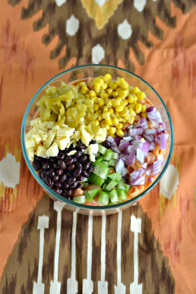 Don't serve the same old pasta salad...make it new again with this Mexican Pasta salad