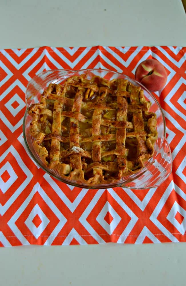 Bourbon and Brown Sugar Peach Pie is juicy and delicious!