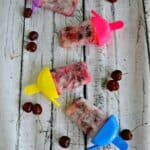 Cool off with easy Cherry Limeade Popsicles