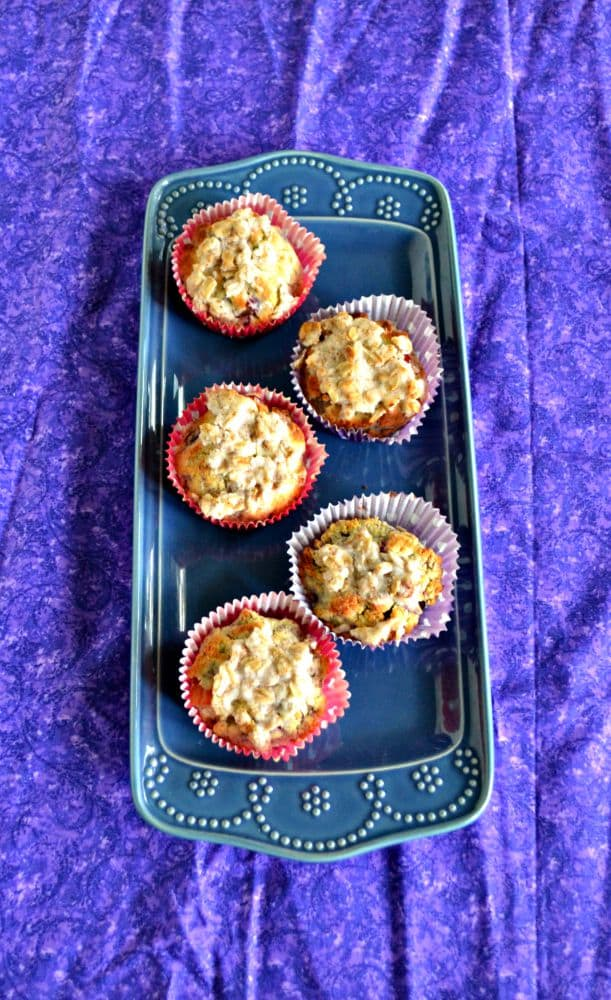 Delicious Blackberry Plum Muffins are made with coconut flour and coconut oil for gluten free goodness!