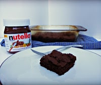 Double Dark Chocolate Nutella Brownies