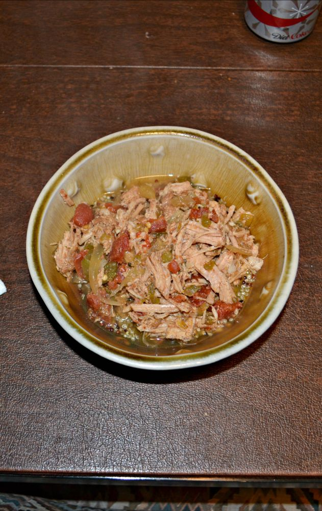 Spicy Pork and Green Chili Stew served over rice or couscous