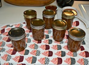 Delicious Spiced Vanilla Rhubarb Jam is tasty on toast or muffins