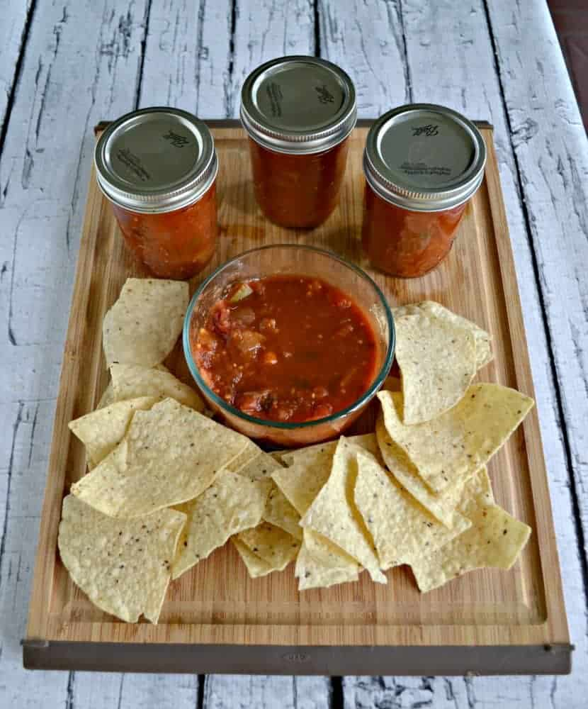 Simple Salsa is a great way to preserve tomatoes for the winter months