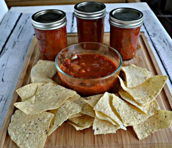 Simple Salsa is a delicous classic salsa recipe perfect for canning.