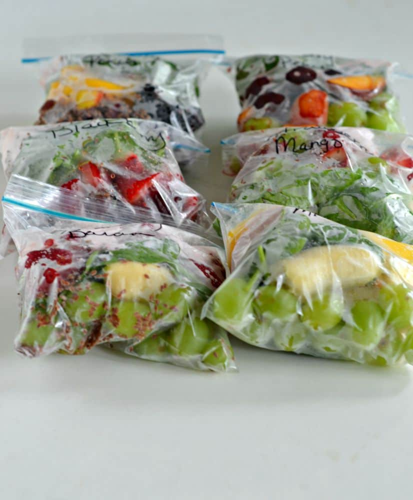 Smoothie packs are great for back to school breakfasts!