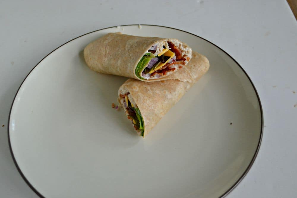 Turkey Bacon Ranch Wraps are a delicious lunch