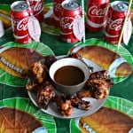 Grilled Wings with Coca-Cola BBQ Sauce + a Football Tag Tutorial
