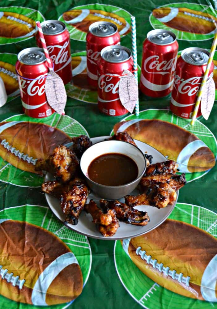 Delicious Coca-Cola BBQ Grilled Wings are perfect for Game Day