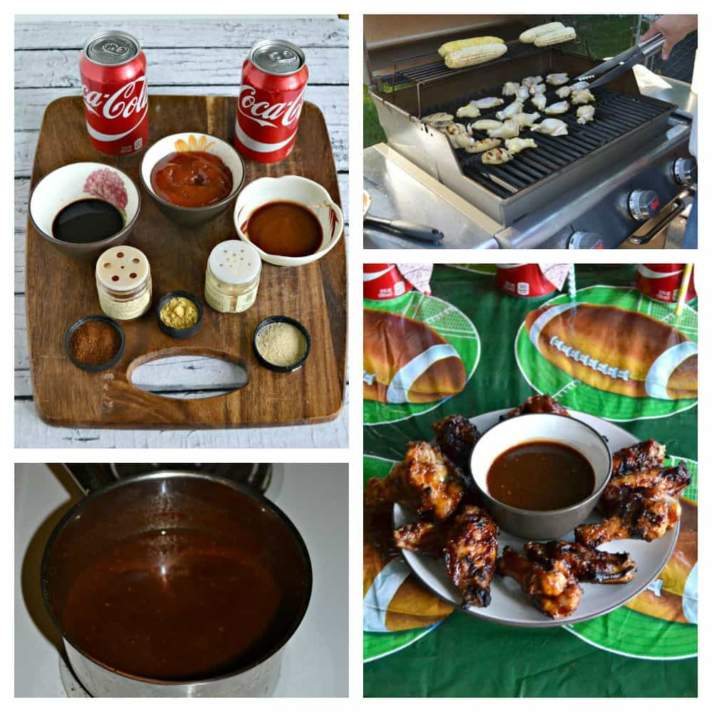 It's easy to make Grilled Wings with Coca-Cola BBQ Sauce for Game Day