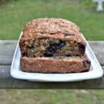 Whole Grain Oatmeal Blueberry Banana Bread #BreadBakers