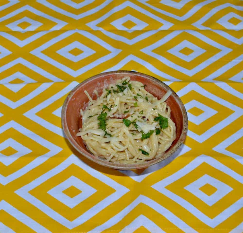 Easy Two Cheese Pasta Carbonara recipe