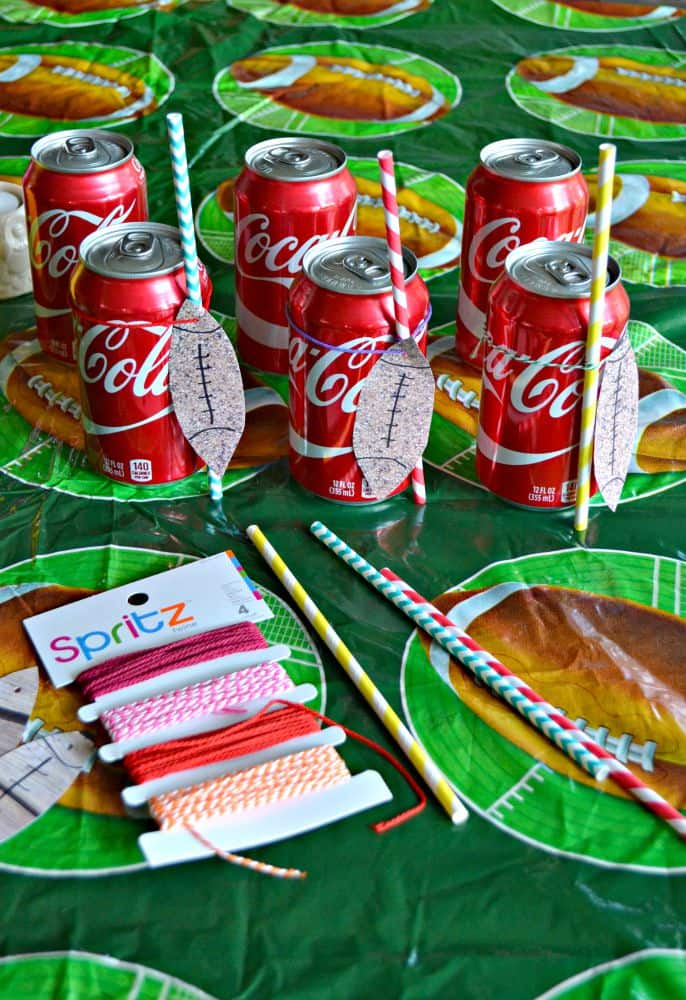 DIY Football Tags for Coke Cans!
