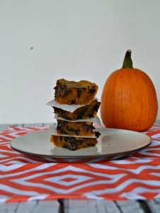 Gooey Pumpkin Chocolate Chip Bars #PumpkinWeek
