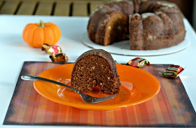 Caramrel Apple Milky Way Bundt Cake from Hezzi-D's Books and Cooks