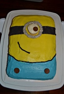 How to Make a Minion Cake (Chocolate Cake with Nutella Frosting)