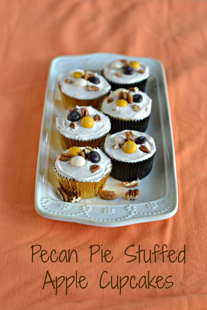 I'm loving these Pecan Pie Stuffed Apple Cupcakes! They are the ultimate fall dessert recipe.