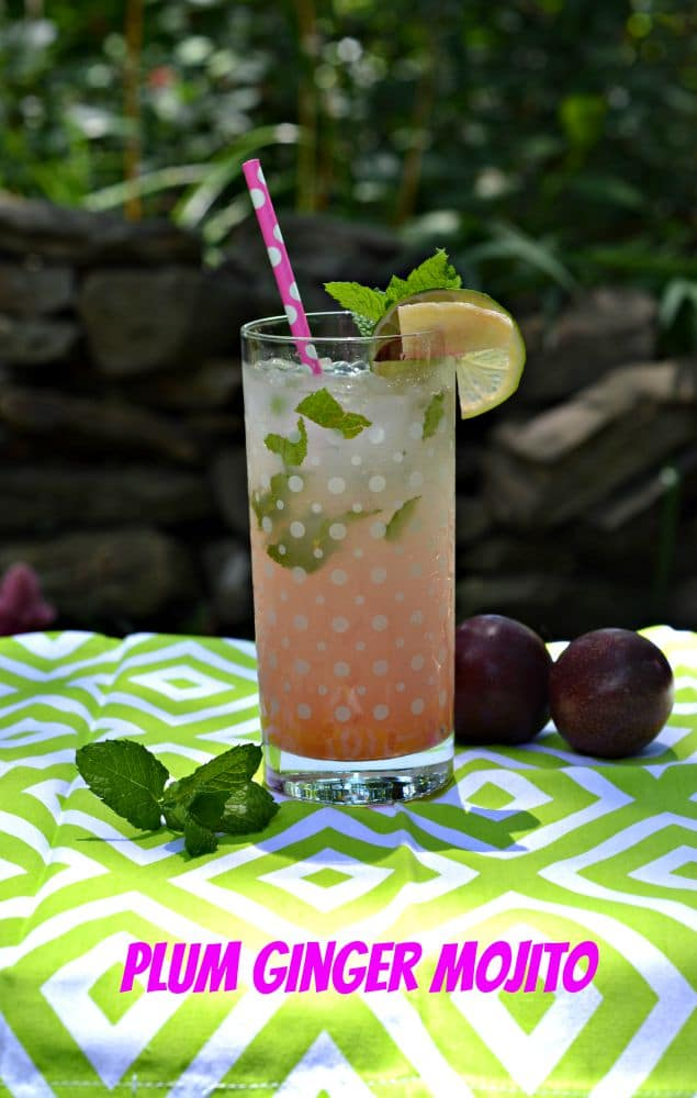 Fun and fruity Plum Ginger Mojitos