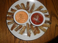 Cheesy Zucchini Fries with Two Dipping Sauces!